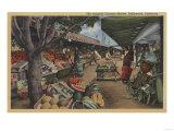 Hollywood  CA - View of Original Farmer's Market