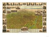 Colorado - Panoramic Map of Denver No 5