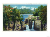 Ithaca  New York - View of Trihammer Falls  Cornell University
