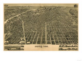 Colorado - Panoramic Map of Denver No 3