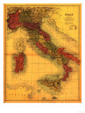 Italy - Panoramic Map