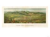 Colorado - Panoramic Map of Colorado Springs No 2