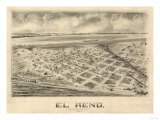 El Reno  Oklahoma - Panoramic Map
