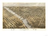 Grand Rapids  Michigan - Panoramic Map