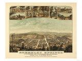 Berkeley Springs  West Virginia - Panoramic Map