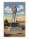 Bakersfield  California - Statue of Padre Garces in Garces Circle