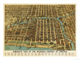 Chicago  Illinois - Panoramic Map