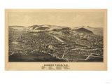 Hoosick Falls  New York - Panoramic Map