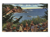 Laguna Beach  California - Girls Enjoying a Vista of Laguna Shores