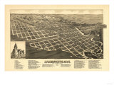Jamestown  North Dakota - Panoramic Map