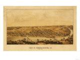 Fredericksburg  Virginia - Panoramic Map