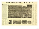 Hendersonville  North Carolina - Panoramic Map