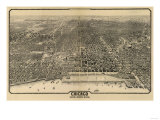 Chicago  Illinois - Panoramic Map No 1