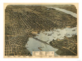Jacksonville  Florida - Panoramic Map