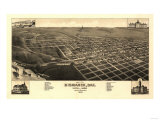 Bismarck  North Dakota - Panoramic Map