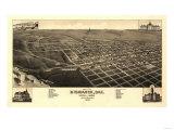 Bismarck  North Dakota - Panoramic Map