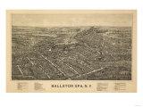 Ballston Spa  New York - Panoramic Map