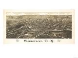 Gouverneur  New York - Panoramic Map