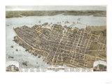 Charleston  South Carolina - Panoramic Map