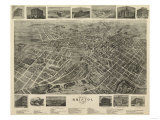 Bristol  Virginia - Panoramic Map