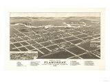 Flandreau  South Dakota - Panoramic Map