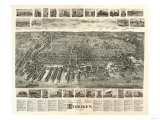 Hoboken  New Jersey - Panoramic Map