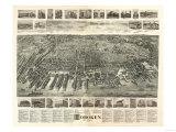 Hoboken  New Jersey - Panoramic Map