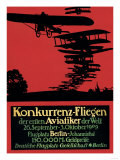 Berlin  Germany - Konkurrenz-Fliegen Airfield Promotional Poster