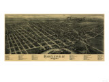 Bartlesville  Oklahoma - Panoramic Map