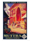 India - Muttra Krishna Temple Travel Poster
