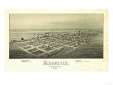 Edmond  Oklahoma - Panoramic Map