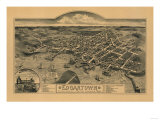 Edgartown  Massachusetts - Panoramic Map
