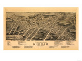Durham  North Carolina - Panoramic Map