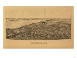 Cazenovia  New York - Panoramic Map