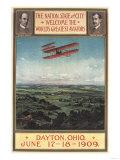 Dayton  Ohio - Wright Brothers Plane  1st Flight Promotional Poster