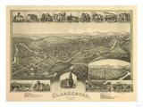 Clarksburg  West Virginia - Panoramic Map