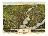 Bridgeport  Connecticut - Panoramic Map