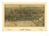 Coney Island  New York - Panoramic Map