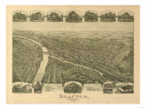 Grafton  West Virginia - Panoramic Map