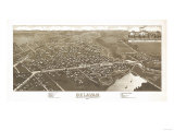 Delavan  Wisconsin - Panoramic Map