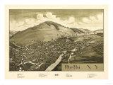 Delhi  New York - Panoramic Map