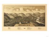 Deposit  New York - Panoramic Map