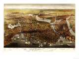 Boston  Massachusetts - Panoramic Map