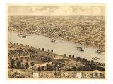 Jefferson City  Missouri - Panoramic Map