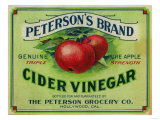 Hollywood  California - Peterson&#39;s Cider Vinegar Label