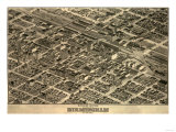 Birmingham  Alabama - Panoramic Map