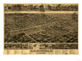 Birmingham  Alabama - Panoramic Map
