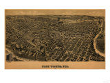 Fort Worth  Texas - Panoramic Map
