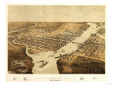 Green Bay  Wisconsin - Panoramic Map