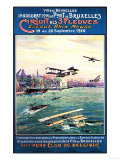 Brussels  Belgium - Cancelled Float Plane Promotional Poster